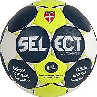 Select Ultimate–Balón de Balonmano, Todo el año, Color Blau/Gelb/Weiß, tamaño 2