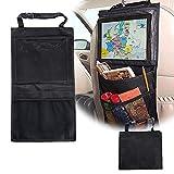 ASIV Rückenlehnenschutz mit große Taschen für iPad, Kinder Rücksitz-Organizer, Autositz-Schoner wasserdicht, Kick-Matten-Schutz