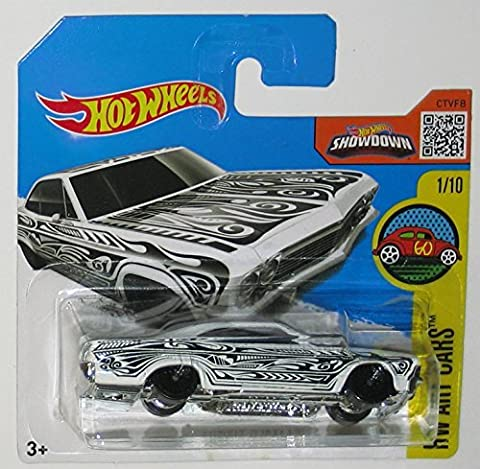 '65 CHEVY IMPALA Hot Wheels 2016 HW Art Cars Series White Impala 1:64 Scale Collectible Die Cast Metal Toy Car Model #1/10 on International Short Card by California-Toys.com
