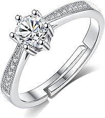 karatcart Silver Platinum Plated Ring for Women