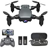 OBEST Mini Dron con Cámara 1080P HD, RC Quadcopter Plegable por App o 2.4GHz Control Remot, Giro de 360 °, Sigue la Trayector