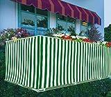 Happy People - Balkonverkleidung, (ca. 90 cm x 5 m, 14 m Spannleine)