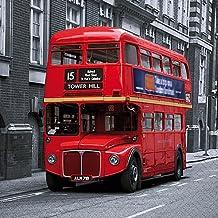 , 20 paquete 3 capas de autobús rojo de Londres diseño británico Tejido servilletas Decoupage para