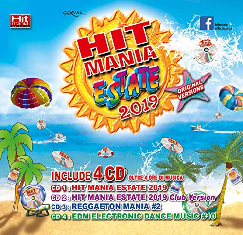 Hit Mania Estate 2019 (Box 4 CD + Rivista) - Estate Music Box