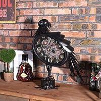 ZHGI American Home decorazioni decorazione orologio, consigliati ferro mestieri Eagle controsoffitto orologio, orologio da parete creativa