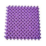 iTemer Splice Quadratisch Rutschfeste Matte Kunststoff Dicker Badezimmer Dusche Matte 30* 30cm Violett