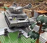Modbrix 8210 - ✠ Bausteine Panzer IV Ausf. F, 1000 Teile, inkl. custom Wehrmacht Soldaten aus original Lego© Teilen ✠