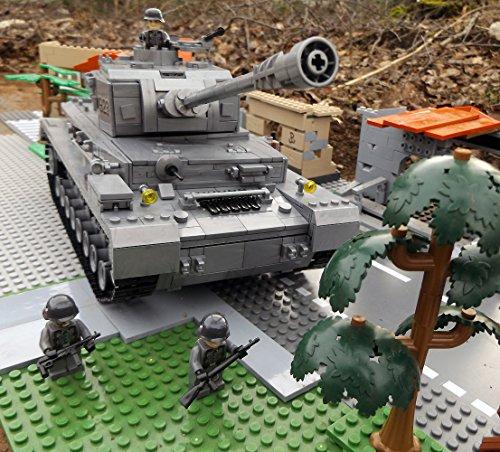 Modbrix 8210 - ✠ Bausteine Panzer IV Ausf. F, 1000 Teile, inkl. custom Wehrmacht Soldaten aus original Lego© Teilen ✠ thumbnail