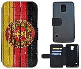Schutz Hülle Flip Cover Handy Tasche Etui Case für (Samsung Galaxy Note 4, 1049 Flagge DDR Ostdeutschland Zone)