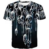 Camiseta para Hombre,Verano Manga Corta 3D Impresión Moda Originales Camiseta Casual T-Shirt Blusas Camisas Camiseta Cuello R