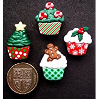 Christmas cupcake & Craft Novelty-Bottoni decorativi Dress It Up by
