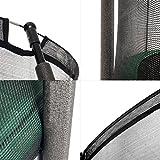 Ampel 24 Outdoor Trampolin 305 cm grün | komplett mit außenliegendem Netz | Gartentrampolin mit 8 gepolsterten Stangen | Sicherheitsnetz mit Stabilitätsring | Belastbarkeit 150 kg - 4