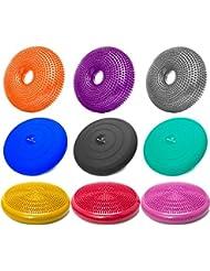 Ballsitzkissen inkl. Pumpe in verschiedenen Formen / Farben - hochwertiges PVC-Material - erhätlich mit / ohne Noppen. Ideal Sitzkissen / Balancekissen / Gleichgewichtkissen / Bürokissen / Noppenkissen