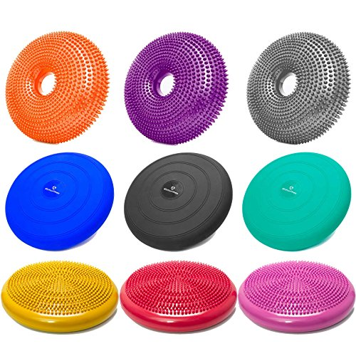 Ballsitzkissen inkl. Pumpe in verschiedenen Formen / Farben – hochwertiges PVC-Material – erhätlich mit / ohne Noppen. Ideal Sitzkissen / Balancekissen / Gleichgewichtkissen / Bürokissen / Noppenkissen