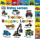 Erstes Lernen. Traktor, Bagger, Laster: Mit großen Griffleisten