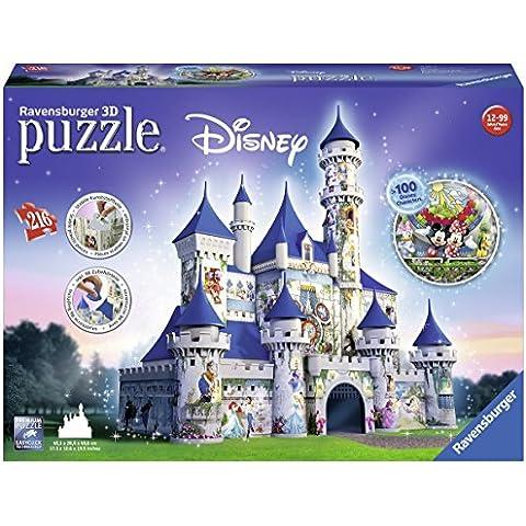 Ravensburger - Puzzle Building 3D, serie Maxi Fantasy Castle Disney, 216 piezas (12587)