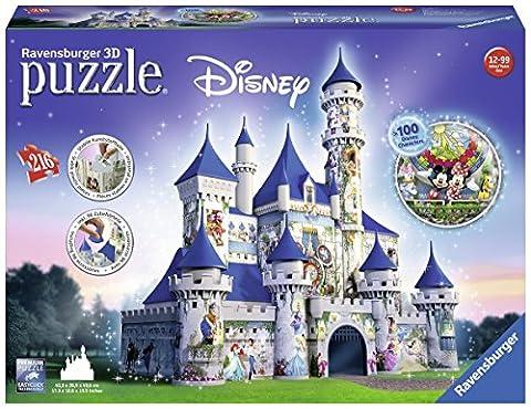 Ravensburger - 12587 - Puzzle - 3D Château Disney - 216 (Disney Castello)
