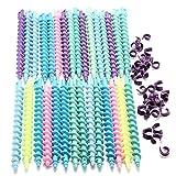 Bluelover 25Pcs Styling Kunststoff Frisur Spirale Haar Perm Rod-Lang