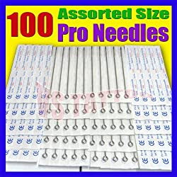 Blackseal Lots 100pcs Disposable Sterile Tattoo Needles Mix size For Tattoo Machine