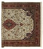 Nain Trading Indo Täbriz Royal 404x300 Orientteppich Teppich Beige/Dunkelbraun Handgeknüpft Indien