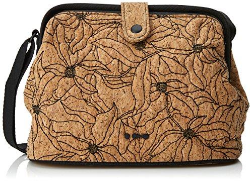 Skunkfunk Gessami, Bolso Bandolera para Mujer, Marrón (Leather), 5x17x29 cm (W x H x L)