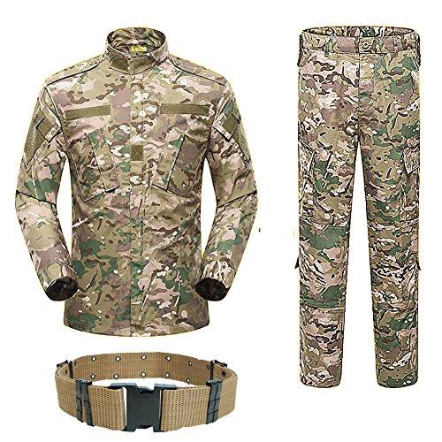 H World Shopping H Mundo Compra Hombres táctico BDU Chaqueta de Uniforme de Combate Camisa y Pantalones Traje para ejército Militar Airsoft Juego de Guerra Caza Paintball Multicam MC