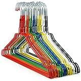 50 beschichtete Draht-Kleiderbügel in verschiedenen Farben