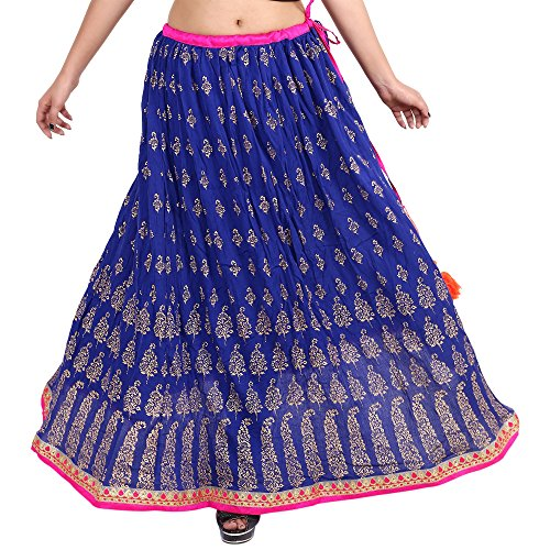 Gaurangi Women's Gold Work,Hand Block Print,Designer Mirror Work Wedding Lehanga,Party Wear Skirt For Girl's Floor...
