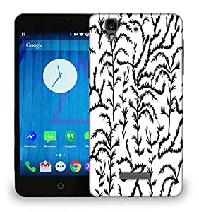 Snoogg Black Plants Printed Protective Phone Back Case Cover For Micromax Yu Yureka