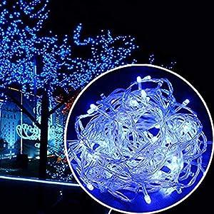 Dapei LED Lichterkette für Innen- und Aussen Deko, 30m 300er LED Lichterkette Batteriebetrieben Warmweiß Wasserdicht…