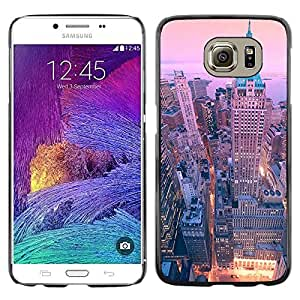 Omega Covers - Snap on Hard Back Case Cover Shell FOR Samsung Galaxy S6 - Ny Nyc New York Architecture Building