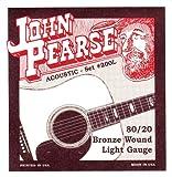 John Pearse 200L Jeu de cordes pour Guitare Bronze Light
