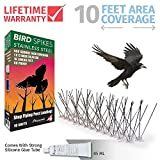 Aspectek Stainless Steel Bird Spikes Kit, 10 Feet (3 Metre). Perfect Bird Gel Deterrent