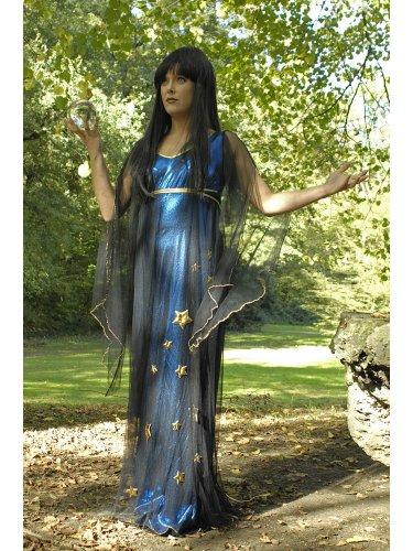 Für Erwachsene Damen Kostüm Elvira - Das Kostümland Kostüm Magierin Elvira Gr. 36 38