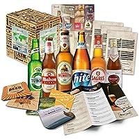 Weihnachtsgeschenk für Mann Freund Biere der Welt (6x0,33l) Weihnachten in aller Welt | Nikolausgeschenk Wichtelgeschenk Geschenkidee für Weihnachten