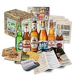 """""""Perfektes Weihnachtsgeschenk für jeden, der Bier mag! inkl. kostenloser Geschenkverpackung und tollen Beilagen Sie erhalten Ihre ganz persönliche Bier Weltreise durch die Biergenüsse verschiedenster Länder. Feiern Sie Weihnachten in aller Welt mit e..."""
