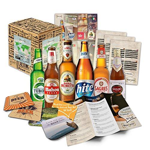 Regalo di natale per amico amico birre del mondo (6x0,33l) natale nel mondo | regalo di nicola regalo di gnomo idea regalo per natale