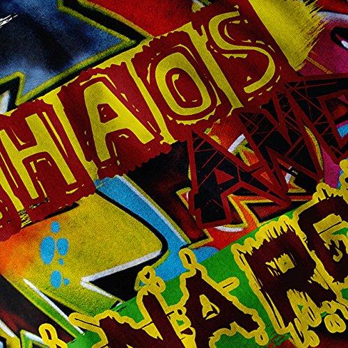 Anarchie Chaos Kunst Mode Graffiti Ventilator Damen Schwarz S-2XL Muskelshirt | Wellcoda Weiß