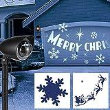 LED-Strahler mit tollem Dreheffekt Weihnachtsmann auf Schlitten Rentierenfür Drinnen und Draussen • LED Projektor Weihnachtsbeleuchtung Gartendeko Star Shower Weihnachtsdeko Außen