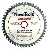 NOVOTOOLS EXTREME TCT Lame de scie circulaire à bois 165 x 20 mm x 48 dents pour scies Festool, Bosch, Makita, DeWalt etc. Haute qualité