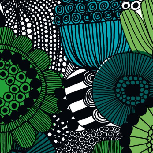 marimekko-finnish-designer-siirtolapuutarha-green-line-floral-luxury-traditional-paper-table-napkins