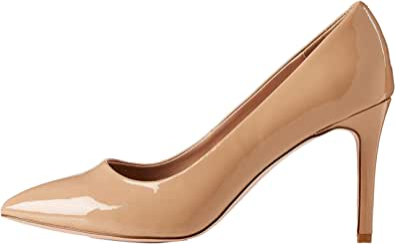 Marchio Amazon - find. - Wide Fit Point Court Shoe, Scarpe col tacco punta chiusa Donna