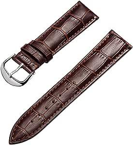 omyzam Bracelet de Montre en Cuir, Bracelet de Montre de Mode pour Hommes et Femmes à la Main avec Accessoires de Montre14mm 16mm 18mm 20mm 22mm 24mm