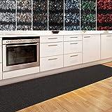 Küchenläufer Granada in großer Auswahl | strapazierfähiger Teppich Läufer für Küche Flur UVM. | Rutschfester Teppichläufer/Flurläufer für alle Böden (80x300 cm Braun)