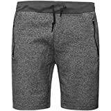 Pack Of 2 Mens Jogging Fleece Shorts Sweat Jersey Comfy Elasticated Waist Joggers Casual Gym Bottoms Plain Loungewear Lounge Pants Running Short With Zip Pockets Sweatpants Size S-2XL