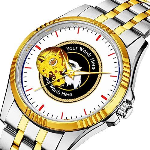 Mechanische Uhr Herrenuhr Klassische mechanische Uhr Timeless Design Mechanic (Gold) 102.American Bald Eagle Rope Shield -