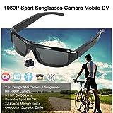 BJESSENCE 1 PC T3 Cámara de gafas de sol HD 1080P Cámara usable Gafas de sol deportivas Video de cámara web de videocámara Grabación de voz Digital DVR Mini DV para uso en exteriores