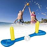 Filet de Volleyball Gonflable 244*64cm Po Ensemble de Flotteur de Piscine Gonflable de Volleyball pour Enfants Adultes Jouet