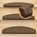 Kettelservice-Metzker Stufenmatten Treppen-Teppich Rambo 15er SparSet 17 Farben incl. Fleckentferner (-Braun-)