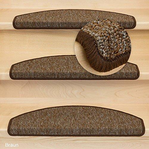 Stufenmatte Treppenmatte Rambo Halbrund - 11 aktuelle Farben ! (Braun)